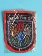 KEUKENHOF : BADGE 7 X 5,5 Cm. () Zie / Voir / See Photo ! - Blazoenen (textiel)
