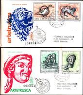 13220a)F.D.C.SAN Marino Arte Etrusca - 16 Settembre 1971 - FDC