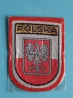 POLSKA : BADGE 7 X 5,5 Cm. () Zie / Voir / See Photo ! - Scudetti In Tela