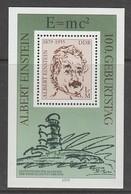 BLOC NEUF D'ALLEMAGNE ORIENTALE - CENTENAIRE DE LA NAISSANCE D'ALBERT EINSTEIN N° Y&T 51 - Albert Einstein
