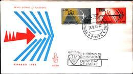 13221a)F.D.C.SAN Marino   Balestra - ESPRESSI - 28 Agosto 1965 - FDC