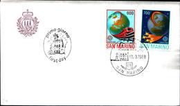 13222a)F.D.C.SAN Marino  Europa - 17 Marzo 1988 - FDC
