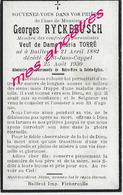 En 1930 Bailleul Et Saint Jans Cappel (59)  Georges RYCKEBUSCH Ep Maria TORRE - Décès