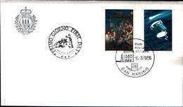 13223a)F.D.C.SAN Marino   Cometa Halley - 6 Marzo 1986 - FDC