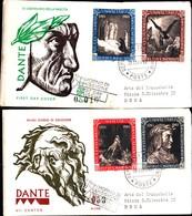 13226a)F.D.C.SAN Marino    7º Centenario Della Nascita Di Dante Alighieri - 20 Novembre 1965 - FDC