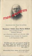 En 1952 Abbé Jean-Marie BASLE Curé De Saacy Sur Marne Né Cornillé (ile Et Vilaine) En 1880-chapelain épiscopal - Décès