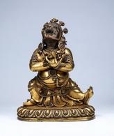 China Buddhism Copper Gilt Vajradhara Buddha Statue - Oriental Art