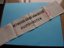 HET ROODE KRUIS VAN BELGIË - HULPDIENSTEN ( 6295 ) Komiteit / Afdeeling BORGERHOUT ( ARMBAND ) ! - Organisations