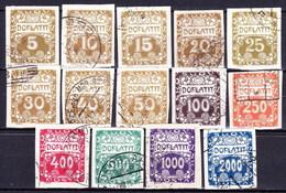 Tchécoslovaquie 1919 Mi P 1-14 (Yv TT 1-14), Obliteré - Tchécoslovaquie