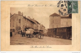 SAINT-LAURENT-les-MACON : La Rue De La Levée, Tramway - Tres Bon Etat - Other Municipalities