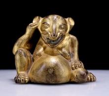 China Tibet Copper Gilt Fortune Rat - Oriental Art