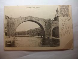 Carte Postale Camares (12) Pont Romain (CPA Dos Non Divisé Noir Et Blanc Oblitérée 1903 Timbre 1 Centime) - Autres Communes