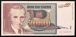 YUGOSLAVIA JUGOSLAVIA  5000000 5.000.000 DINARA 1993   FDS / UNC Lotto.175 - Jugoslavia