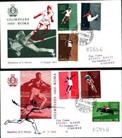 13238a)F.D.C.SAN Marino    Olimpiadi Di Roma - 23 Maggio 1960 - FDC