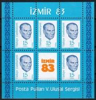Türkei MiNr. Bl. 23 ** Nationale Briefmarkenausstellung IZMIR `83 - 1921-... República