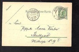 1907 Mittelberg Stuttgart 'Deutscher Und Österreichischer Alpenverein Section Frankfurt Am Mainz' (590) - Ganzsachen