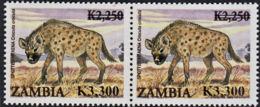B0208 ZAMBIA 2009, SG1058, K3,300  Surcharge On K2,250 Animals   MNH Horizontal Pair - Zambia (1965-...)