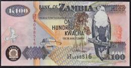 Zmb015 ZAMBIA 2009, 100 Kwacha Banknote, (CW Serial Numbers) - Zambia