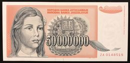 YUGOSLAVIA JUGOSLAVIA  5000000 50.000.000 DINARA 1993 ZA  FDS / UNC Lotto.314 - Jugoslavia