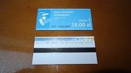 Bus Ticket From Poland - Warsaw 15 PLN !!! - Fahrkarte - Transportation