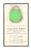 Faire-part De Décès De Mr André RUWET, Bourgmestre De BLEGNY-TREMBLEUR -Fusillé Par Les Allemands - Guerre 14/18 (b260) - Décès