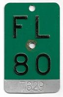 Velonummer Liechtenstein FL 80, Grün - Number Plates