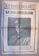 Lot. 1117. L'étoile Belge. N°51 De  Février 1934. Le Roi-Chevalier; - Journaux - Quotidiens