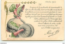Jeune Femme En Manchon - Ruzé & Cie  Fourreurs à Paris - Compagnie Russe - Advertising