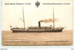 """Compagnie Russe De Navigation à Vapeur Et De Commerce - Paquebot """"Empereur Nicolas II"""" - Dampfer"""
