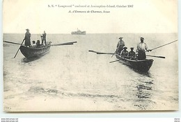 SEYCHELLES - S.S. Longwood Anchored At Assomption-Island  October 1907 - Seychelles