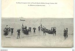 SEYCHELLES - Loading Of Mangrove Bark At Picault-Island (Aldabra Group) October 1907 - Seychelles