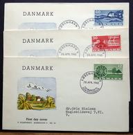 Denmark 1960  Agriculture / Landwirtschaft /   MiNr.378-80  FDC  ( Lot  Ks  )FALKENBERG  COVER - FDC