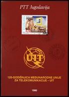Yugoslavia 1990 / 125th Anniversary Of The International Telecommunication Union (ITU) / Prospectus, Leaflet, Brochure - Jugoslawien