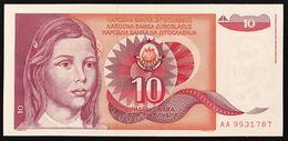 YUGOSLAVIA JUGOSLAVIA  10 DINARA 1990 AA  FDS / UNC Lotto.1959 - Jugoslavia