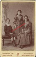 Grand CDV-(CAB) Beau Portrait D'enfants-fratrie-mode-photo Emile TOURTIN à Paris-bel état - Anciennes (Av. 1900)