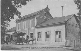 LUXE - La Gare De La Compagnie D'orléans Et Les Courriers D'aigre Et De Mansle - Francia