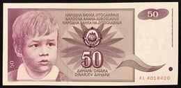 YUGOSLAVIA JUGOSLAVIA  50 DINARA 1990  FDS / UNC Lotto.1962 - Jugoslavia