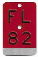 Velonummer Liechtenstein FL 82, Rot - Number Plates
