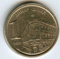 Yougoslavie Yugoslavia 1 Dinar 2002 KM 180 - Yougoslavie