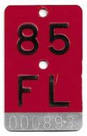 Velonummer Liechtenstein FL 85, Rot - Number Plates