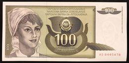 YUGOSLAVIA JUGOSLAVIA  100 DINARA 1991  FDS / UNC Lotto.1981 - Jugoslavia