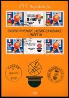 Yugoslavia 1989 / EUROBASKET, European Basketball Championships, Zagreb / Prospectus, Leaflet, Brochure - Jugoslawien
