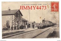 CPA - La Gare De AYTRE En 1915 - Environs De LA ROCHELLE 17 Charente Maritime - N° 15 - L. C. - Gares - Avec Trains