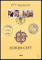 Yugoslavia 1989 / Europa CEPT - Children's Games / Prospectus, Leaflet, Brochure - Jugoslawien