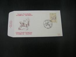 """BELG.1990 2350 FDC (Mechelen) : """"Liaison Postale Innsbruck-Malines"""" - 1981-90"""