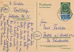 Ganzsache Rendsburg 1952 Posthorn Notopfer Berlin Steuermarke - [7] Federal Republic
