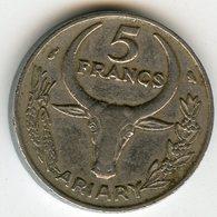 Madagascar 5 Francs 1972 Ariary KM 10 - Madagascar