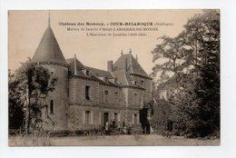 - CPA COUX-BIGAROQUE (24) - Château Des Bretoux 1924 - - Francia