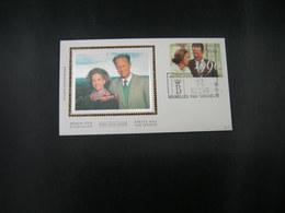 """BELG.1990 2396 FDC (Brux/Brus ) Soie/zijde : """" Koninklijk Huwelijk (30) Mariage Royal """" - 1981-90"""