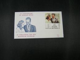 """BELG.1990 2396 FDC (Brux/Brus)  : """" Koninklijk Huwelijk (30) Mariage Royal """" - 1981-90"""